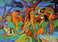 Nus dans un paysage by Pierre Ambrogiani