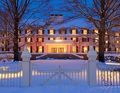Woodstock, VT ~ The classic and elegant Woodstock Inn goes all out to warm up with holiday cheer.