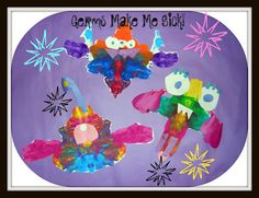 Germs make me sick - Could be good for Kindergarten Rorshash creatures