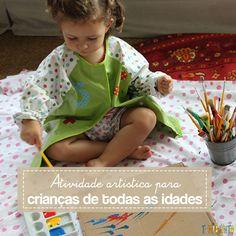 Você consegue atrair e entreter crianças com idades diferentes quando faz um convite para uma atividade de artes criativa.