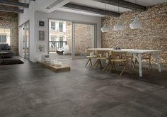 concrete tile floor - Google Search