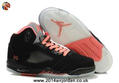 official photos 6daa7 e1991 Nice Cheap Jordan 5 Retro GS Black Pink 440892 001 Air Jordans 2013 are  more and more popular for people online.Cheetah Print Jordans 2013 shop  also ...