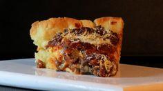 Trozo de pizza estilo Chicago