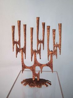 Mid Mod Menorah- a friend has one like this