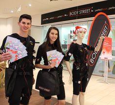 Bodystreet Promotion in der SCW Wels mit den sportlichen Promotoren von me2modelmanagement