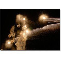 Trademark Art Abstract Fireworks 34 inch Canvas Wall Art by Kurt Shaffer, Size: 30 x 47, Multicolor