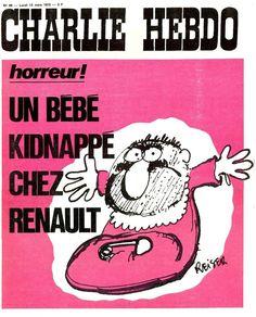 Charlie Hebdo - N° 69 - Lundi 13 Mars 1972 - Couverture de Reiser