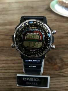 Casio DW 400 Tachy Meter,Module no Vintage Rare, Japan Casio Quartz, Casio Vintage Watch, Casio Watch, Retro Watches, Vintage Watches, Men's Watches, Stainless Steel Watch, Stainless Steel Bracelet, Luxury Watches For Men