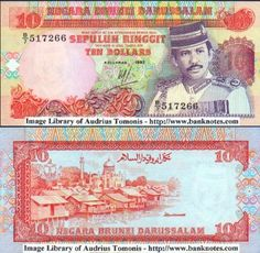 Brunei  10 Ringgit 1992