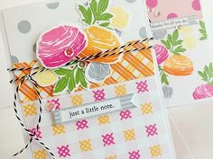 Make It Monday #206: Stamping and Mixing Patterns - YouTube - Wonderful ideas for making your own coordinating papers, and then using them for cards.