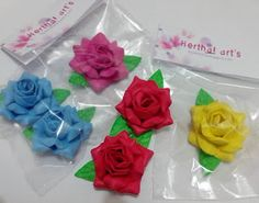 Herthal art's: ímãs de geladeira mini rosa de varias cores...