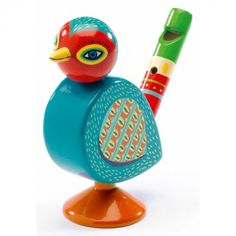 This uniquely shaped whistle is a wonderful way to develop your child's interest in music. Designed in the shape of a bird, this fun whistle makes a great first instrument.