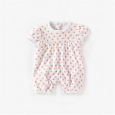 Pack of 2 Baby Girl's Short-Sleeved Romper Suits