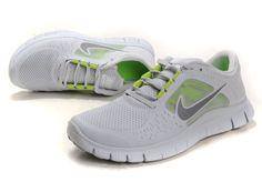 Cheap Mens Nike Free Run 3 white grey