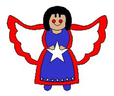 American Angel for Fourth of July: Cute Kids Crafts Food Crafts, Paper Crafts, Fourth Of July Crafts For Kids, Cute Kids Crafts, Remembrance Day, Holidays With Kids, God Bless America, American Pride, Veterans Day