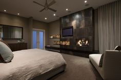 34 Awesome Master Bedroom Fireplace , Create your own collection of things you need to get shown in your home. You have your home beautifully staged. If your home feels like home, it's not. Cozy Bedroom, Dream Bedroom, Bedroom Decor, Bedroom Ideas, Bedroom Inspiration, Bedroom Wall, Bed Room, Bedroom Romantic, Bedroom Colors