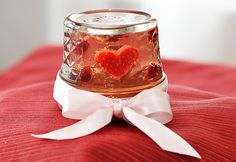 Rose wine jelly shot.
