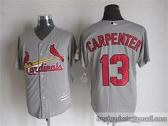 MLB St. Louis Cardinals #13 Joe Grzenda Gray Jersey