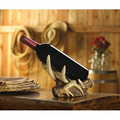 Show details for Beautiful Faux Rustic Antler Wine Bottle Holder $19.99, Free Shipping, 20% discount till Sept 1