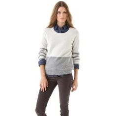 Madewell Jasper Mohair Mix Pullover...great subtle colorblocking