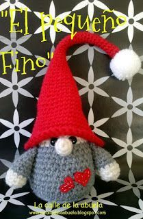 "A little gnome/ troll in Spanish. This pattern is free on ""La Calle de la Abuela"""
