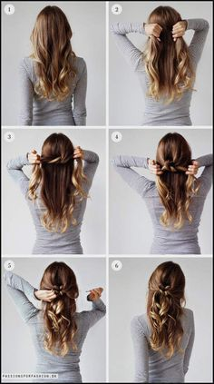 "Coiffures rapides avec des cheveux longs # fantaisie coiffures # fille "" Quick Hairstyles, In my opinion, hair ribbons/scarves are the prettiest hair accessories. They can make a messy bun or a ponytail look elegant. They can make a bad hair. Fast Hairstyles, Trendy Hairstyles, Simple Hairstyles For Long Hair, Beautiful Hairstyles, Quick Easy Hairstyles, Fashion Hairstyles, Lazy Girl Hairstyles, Step By Step Hairstyles, Easy Elegant Hairstyles"