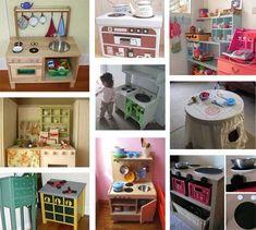 cardboard play kitchens | DIY Toy Kitchen Ideas | Children's Ideas