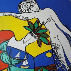 """""""La vie est belle"""" Peinture de l'artiste contemporaine Marie-José Baquero"""