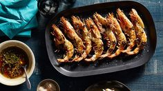 King prawns with spiced honey, butter and crispy capers recipe : SBS Food Honey Recipes, Meat Recipes, Recipies, Sbs Food, Sydney Restaurants, Australian Food, Barbecue Recipes, Bbq, Prawn