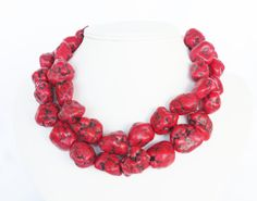 Chunky Red Wedding Jewelry  Red Turquoise by WildflowersAndGrace, $64.00