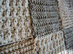 Ravelry: Crochet Sampler Afghan pattern by Lion Brand Yarn Crochet Motifs, Crochet Blocks, Afghan Crochet Patterns, Crochet Squares, Stitch Patterns, Knitting Patterns, Crochet Stitches, Granny Squares, Knit Or Crochet