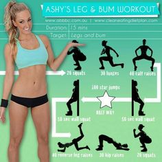 If you need to work on your legs and bum!! Here's how before summer! Your welcome :)