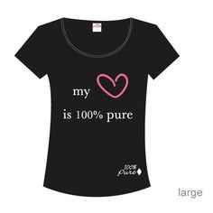 My Heart is 100% Pure T-Shirt (Large) from 100 Percent Pure Cosmetics. Show your support and proudly state that you support cruelty free cosmetics! $18.00