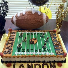 Saints Football cake by me @ Cake My Day.