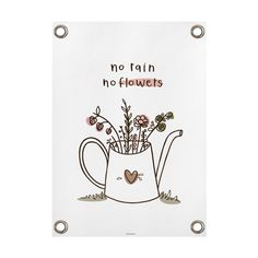Tuinposter No rain, no flowers diverse afmetingen | Villa Madelief Decking Area, No Rain, Flowers, Villa, Diy, Bricolage, Florals, Handyman Projects, Do It Yourself
