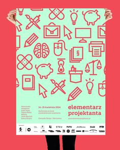 Bachelor's Project - conference Elementarz Projektanta by Paulina Kacprzak, via Behance