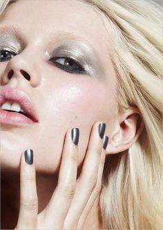 Maquillage métallisé - Argent