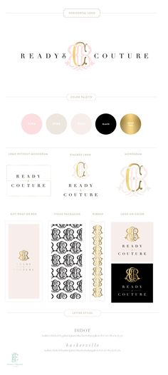 Emily McCarthy Branding Design | Ready to Couture Branding Board