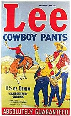 Paper Size: - = x or inc x inc. All prints are the best possible fit to a sheet of ROW (NOT USA): - 2 working weeks. I fully admit the small print may be blurred and slight pixelation may occur on certain prints. Lee Jeans, Lee Denim, Beer Advertisement, Advertising Poster, Vintage Jeans, Vintage Outfits, Cat Art Print, Vintage Airplanes, Old Signs