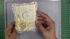 """This is how I make my cards when front and back are die cut. It's also how I make my large cards when the size is greater than 6"""" tall. There's a trick to it..."""