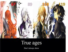 True ages of gil, vincent, break and rufus...that's kinda weird(especially for Oz/Gil shippers)