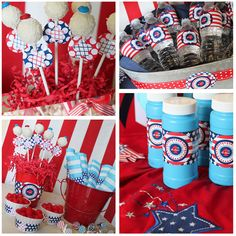 4th of July printables... cute cake pops too