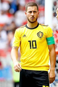 Eden Hazard of Belgium in action during the 2018 FIFA World Cup Russia group G match between Belgium and Tunisia at Spartak Stadium on June 23 Eden Hazard, Garra, Fifa World Cup, Football Players, Messi, June, Action, Group, Sports