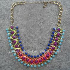 Moda 2014 multi- color de la resina de la cinta con collar hecho a mano-Collares-Identificación del producto:508918018-spanish.alibaba.com