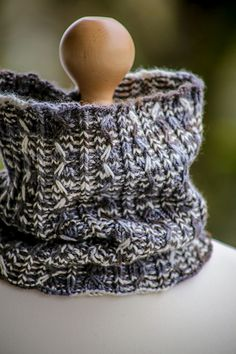 "This fun, unisex cowl is made with one 16"" circular needle in size US 6 and 175 - 275 yards of dk weight yarn."