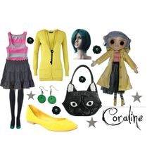 """Coraline Costume"" by meganashley1 on Polyvore"