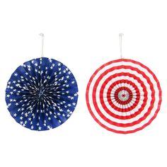 """Americana 2ct Paper Fan - Small (12"""")"""