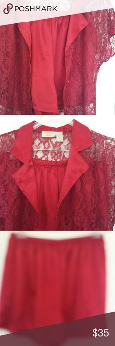 VICTORIA'S SECRET 2 Pce Sexy Lace Short pajamas VICTORIA'S SECRET 2 Pce Sexy Lace Short  Pajamas  Poly & Lace Materials. Good Condition! Thank you for stopping by! Please Check out the rest of the ValourStyle Closet. Intimates & Sleepwear Pajamas