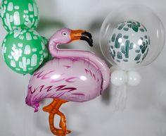 Flamingo Party ? Tropisch Zomer feest ? , Met deze Roze Flamingo Helium Ballon en de mooie Decoratie Cactus Helium Ballonnen wordt het een feestje om nooit te vergeten.....verkrijgbaar bij BallonPlus.nl