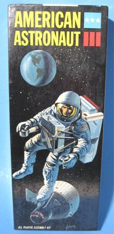 1967 Aurora American Astronaut Plastic Model Kit Never Opened Sealed Box 409-100